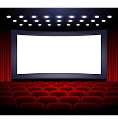 Movie theatre design vector image