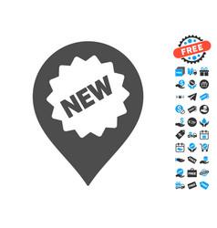 new marker icon with free bonus vector image