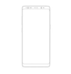 outline drawing modern smartphone elegant thin vector image vector image