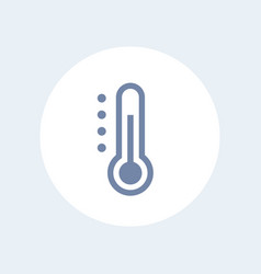 thermometer icon isolated over white vector image