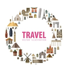 travel logo design template journey or vector image vector image