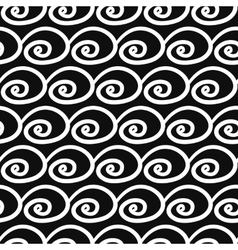 Abstract Seamless pattern with swirls vector
