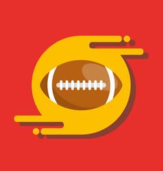 American football ball sport recreation equipment vector