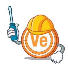 Automotive veritaseum coin mascot cartoon vector