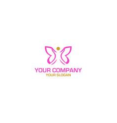 B beauty butterfly fashion logo design vector