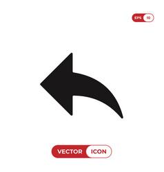 back arrow icon vector image