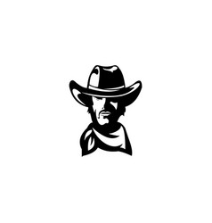 Bandit cowboy with scarf mask cowboy sheriff vector