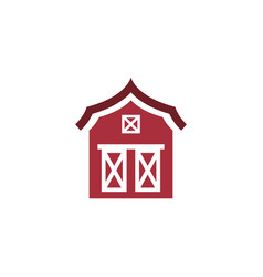 barn icon design template isolated vector image