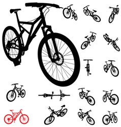 Bicycle silhouette vector