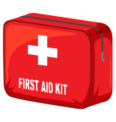 Box first aid kit on white background vector