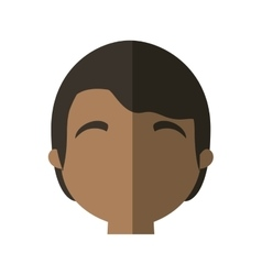 Character face man multiethnic shadow vector
