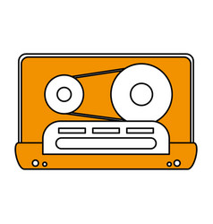 Color silhouette image of tape cassette vector