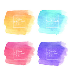 colorful abstract watercolor background vector image
