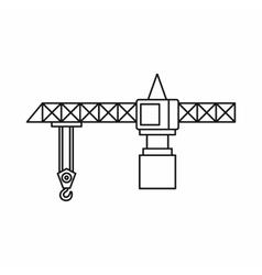 Crane icon outline style vector image