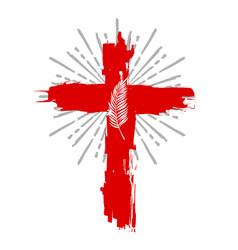 Cross of jesus christ is risen vector