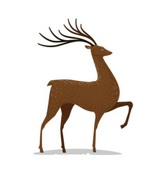 Deer with horns decorative animal vector