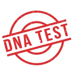 DNA Test rubber stamp vector