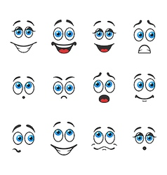 Emotions with eyes vector