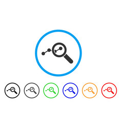 Explore stats rounded icon vector