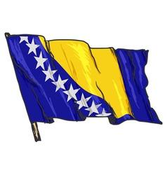 flag of Bosnia vector image