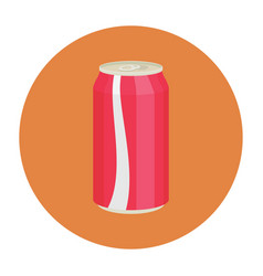 Flat-icon-coke-can vector