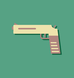 Flat icon design collection military pistol vector