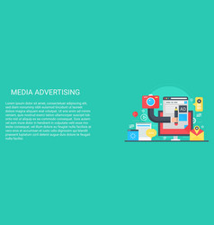 Flat modern concept media advertising vector