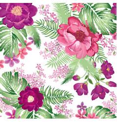 Floral pattern flower bouquet spring garden vector