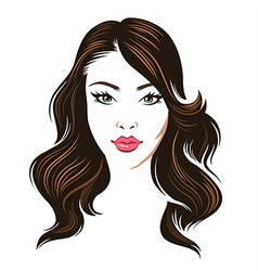 girl hair brunette vector image