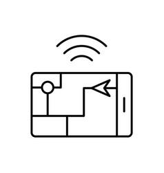 gps smart location icon - artificial vector image
