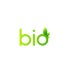 green bio icon vector image