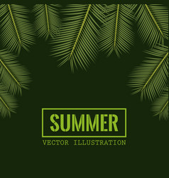 Green color background with side border decorative vector