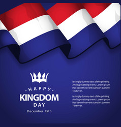 happy kingdom day template design vector image