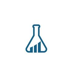 health medical lab logo template vector image