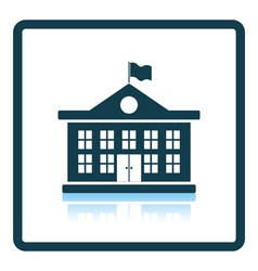 Icon of School building vector