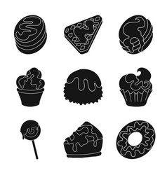 isolated object of sweetness and product logo vector image
