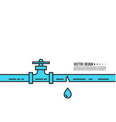 Leaking water pipes vector