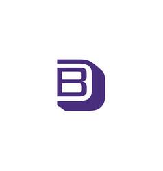 Letter bd logo vector