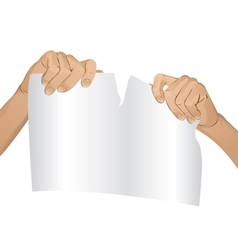 Man hands tear paper version 1 vector image