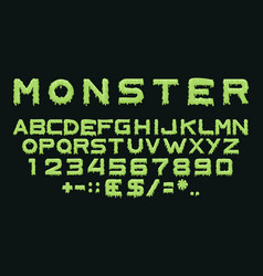 monster type vector image