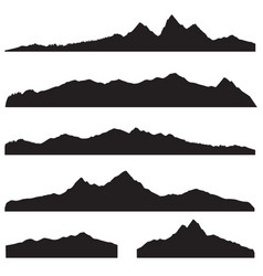 mountains landscape silhouette set abstract high vector image