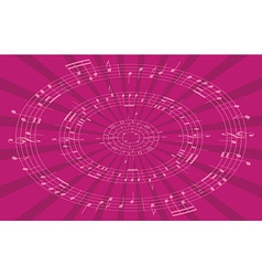 Music radial background vector
