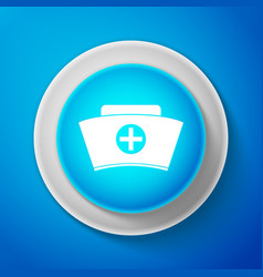 nurse hat with cross icon medical nurse cap sign vector image