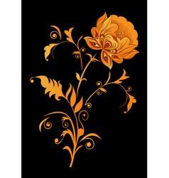 Orange decorative flower vector image