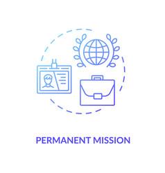 Permanent mission concept icon vector