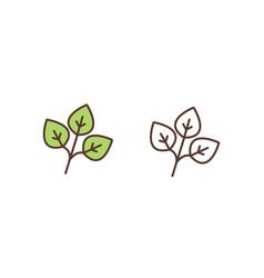 plant foliage linear icon tree twig vector image