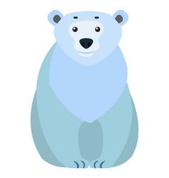 polar white bear arctic animal cartoon character vector image