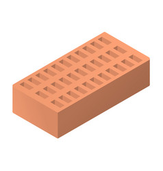 Realistic performance of hollow brick in isometry vector