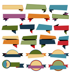 retro ribbons banners collection on white vector image vector image