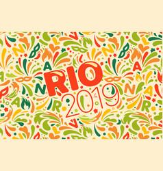 Rio 2019 brazilian carnival design template vector